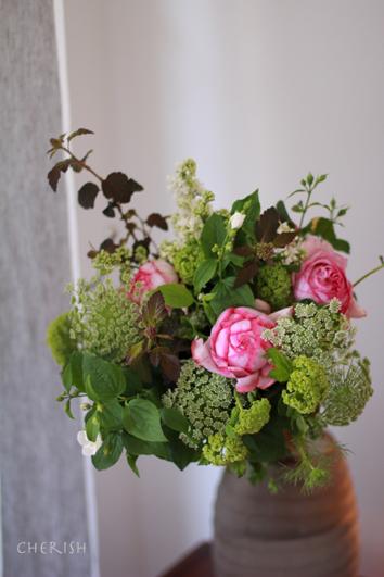 手作りのお花をお母様へ_b0208604_22024766.jpg