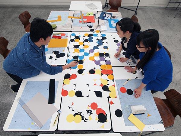 4週目は初めて色彩構成の授業/デザイン・工芸科 私大コース_f0227963_13194034.jpg