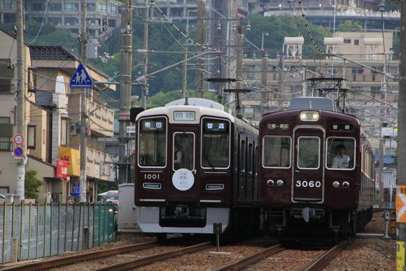阪急箕面線 1001F 送り込み回送 _d0202264_6171240.jpg