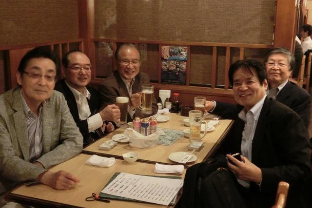 全日空の旅富士山は最高、素敵な仲間たちありがとう、魚海船団神田司町本のお店で大学時代の仲間と_d0181492_1055531.jpg