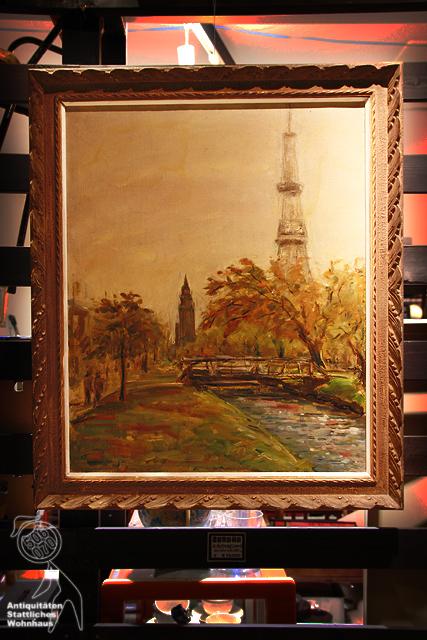 1957/昭和32年 創成川/テレビ塔の油彩_e0243096_21274062.jpg