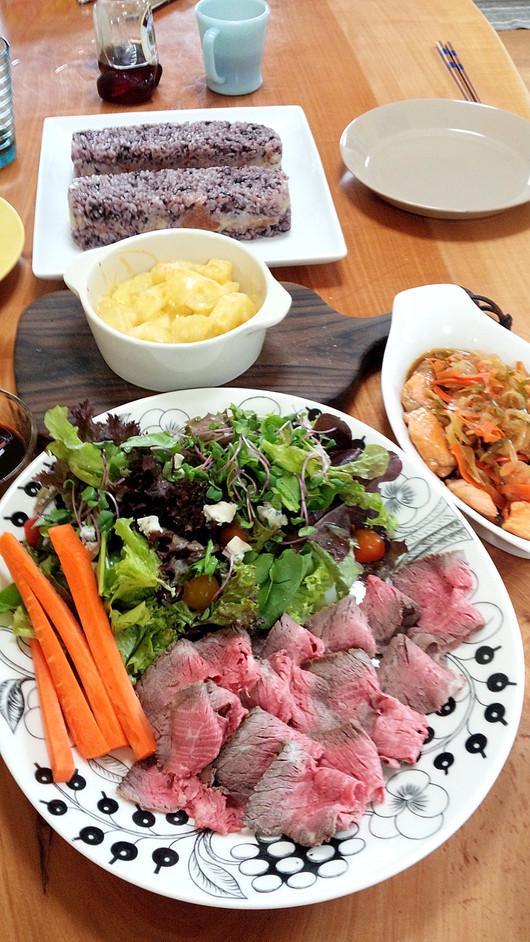 パプリカと豚肉のオイスター炒めと持ち寄りランチ_b0171098_644122.jpg
