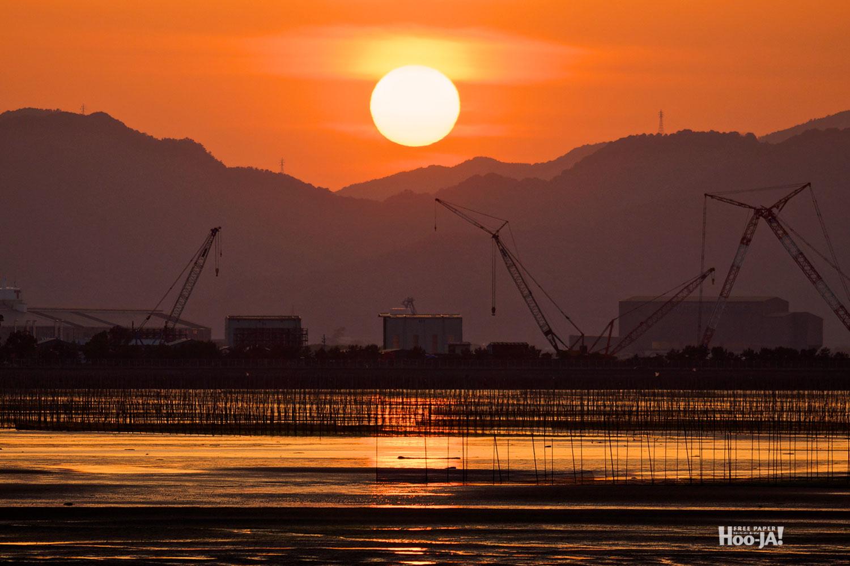 河口の夕焼け_c0136239_0491346.jpg
