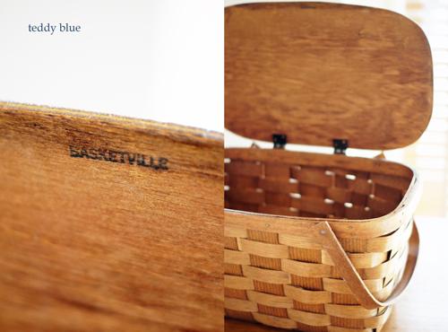 antique picnic basket  アンティーク ピクニックバスケット_e0253364_23111100.jpg