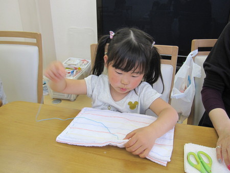 松井山手教室 ~ぞうきん縫い~_f0215199_19593910.jpg
