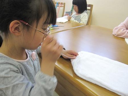 松井山手教室 ~ぞうきん縫い~_f0215199_1959559.jpg
