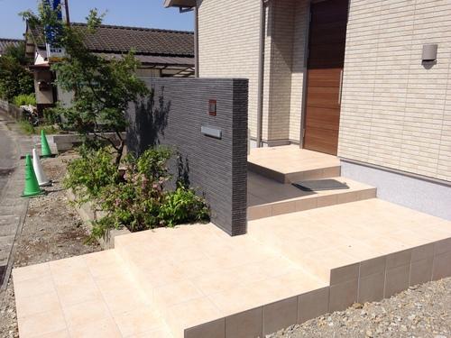 宮崎市Y様邸新築外溝工事第一期工事完成!_b0236217_147135.jpg