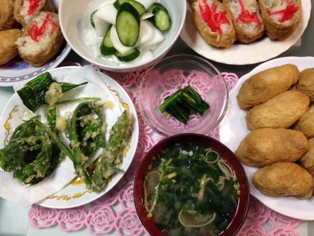 山菜 あずきな・うど_b0236665_2363896.jpg