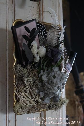 コラージュトレイを作りました。~シックなお花インテリア~_e0237680_1501860.jpg