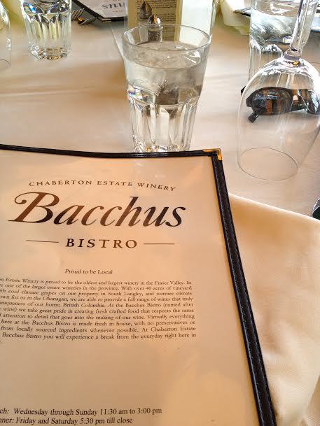 Bacchus Menu