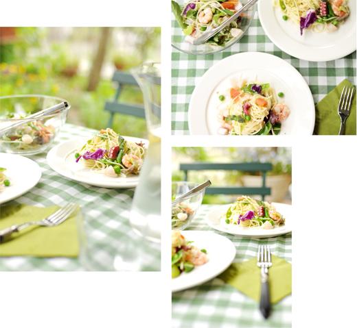 サラダなパスタと、ガーデンランチ。_d0174704_2026508.jpg