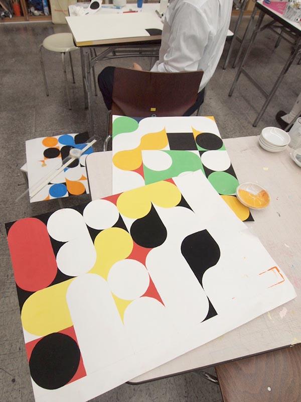 5週目は色彩構成の講評/デザイン・工芸科 私大コース_f0227963_9175588.jpg