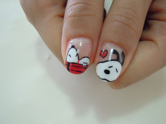 Snoopy Nail_a0239065_1326272.jpg