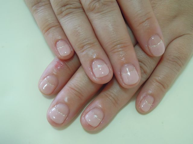 Pink French Nail_a0239065_13341917.jpg