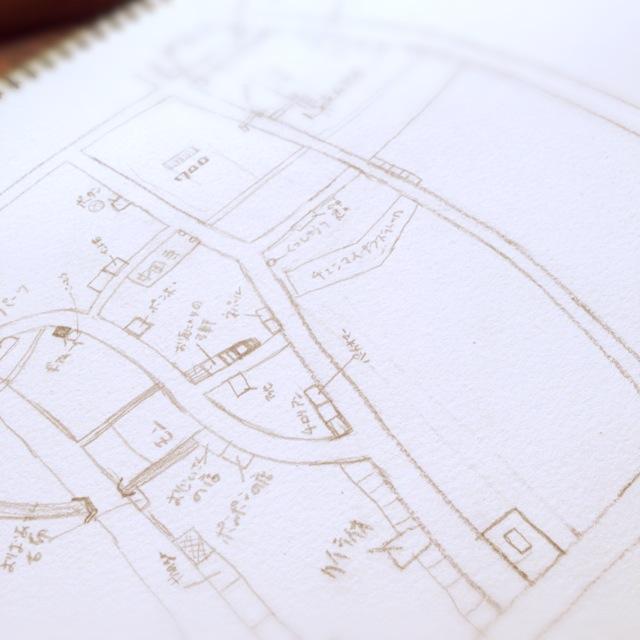 チェンマイのワローロット市場 地図_d0156336_16201478.jpg