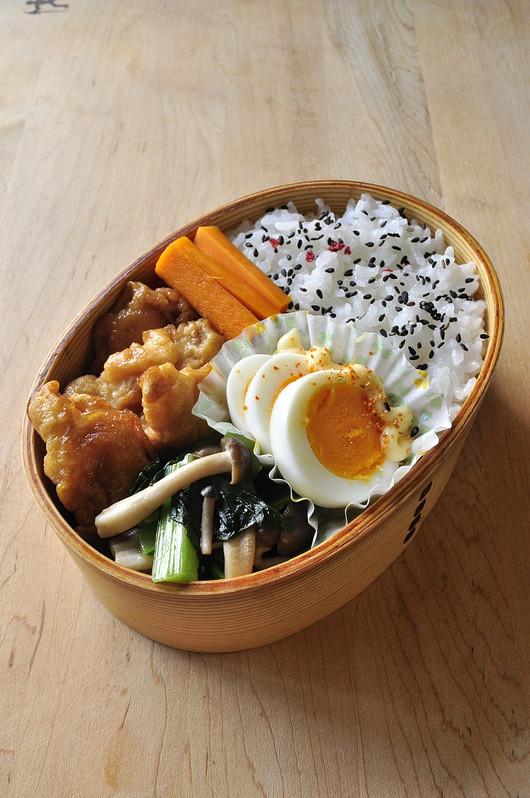 鶏ムネと小松菜のお弁当_b0171098_8143877.jpg