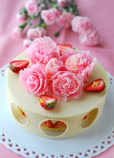 母の日のケーキ_c0169657_07565531.jpg