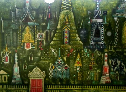 タイ空港内のアート_d0156336_2234423.jpg