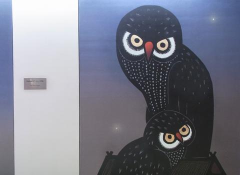 タイ空港内のアート_d0156336_22344781.jpg