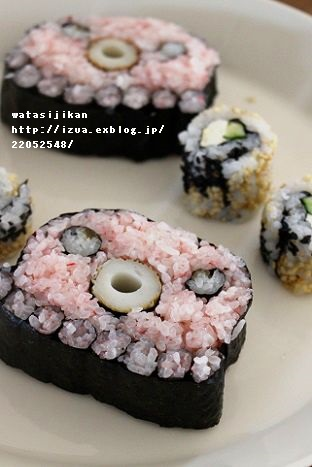 飾り巻き寿司「タコ」を作る_e0214646_13565634.jpg