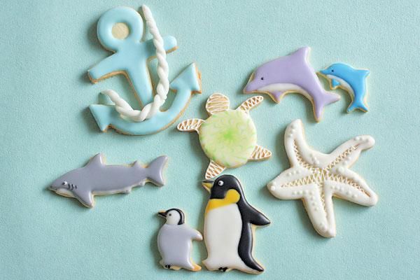 海の動物アイシングクッキー_f0149855_4574156.jpg