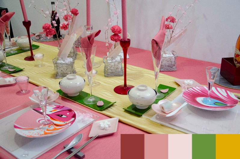 May 28, 2014 春の色Spring Japanese Color: 春の和のテーブルBasic Class in April:_a0307186_547374.jpg
