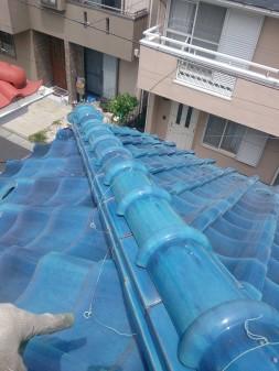 練馬区の西大泉で瓦屋根修理_c0223192_18464574.jpg