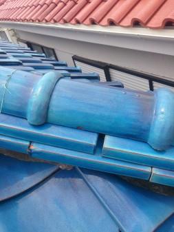 練馬区の西大泉で瓦屋根修理_c0223192_1848458.jpg