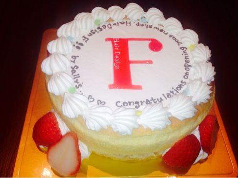 ロゴマークのケーキ!_f0323213_2214592.jpg