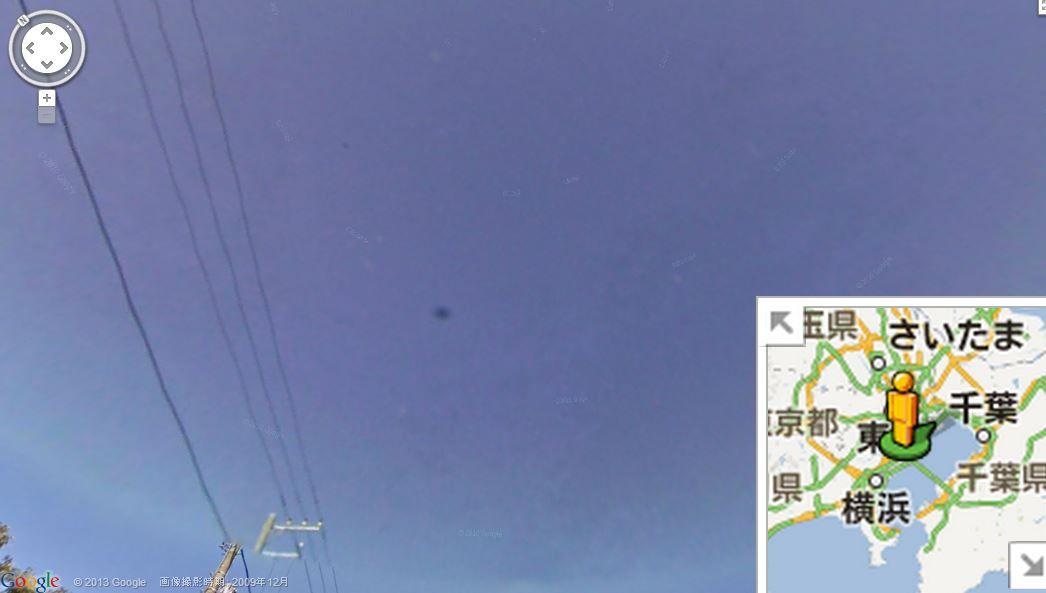 ちょっと怖い!?グーグルストリートビュー:UFOも写るんです!?_e0171614_13115986.jpg