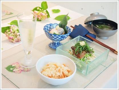 紫陽花で爽やかなおもてなしコーディネート♪ ~テーブル&フードクラス_d0162543_0303973.jpg