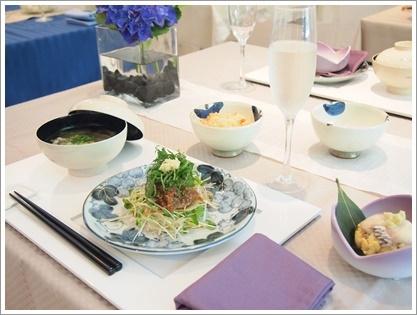 紫陽花で爽やかなおもてなしコーディネート♪ ~テーブル&フードクラス_d0162543_03154.jpg