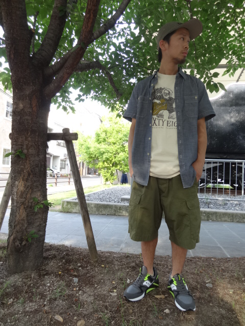 68&BROTHERS M65 Cargo Shorts Style_a0221253_17442221.jpg