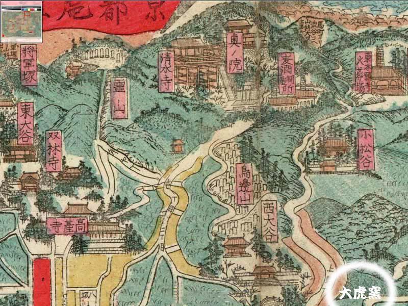 京都古地図上の窯元                 No.1403_d0103457_1036756.jpg