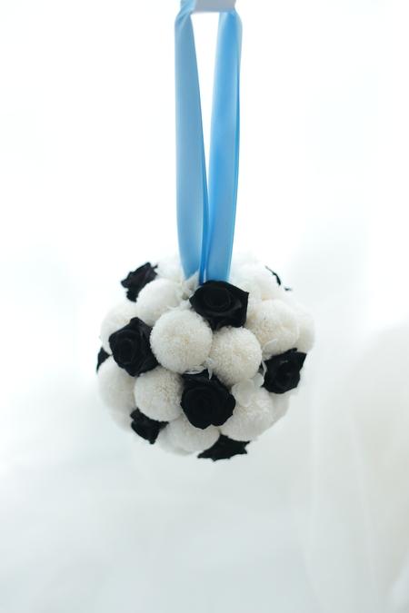 川崎フロンターレのサッカーボールのブーケ と ブートニア  横浜へ_a0042928_2237113.jpg