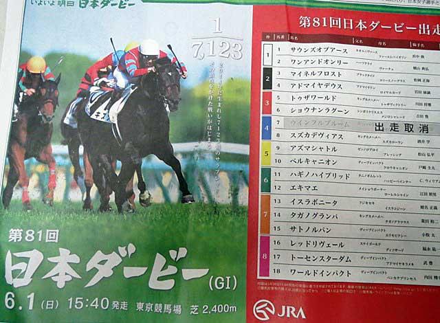 今日のユタカ 京都2勝、明日はダービーです。_a0009035_18193091.jpg
