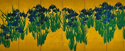蔵織の五月人形の前に咲いた花は、しょうぶかアヤメかカキツバタか?_d0178448_09021213.jpg