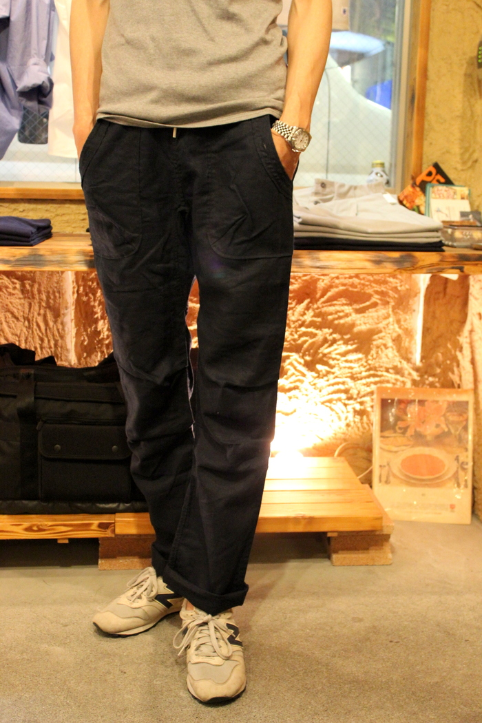 ◆Navy Linen Easy Bottoms_e0142928_22382231.jpg