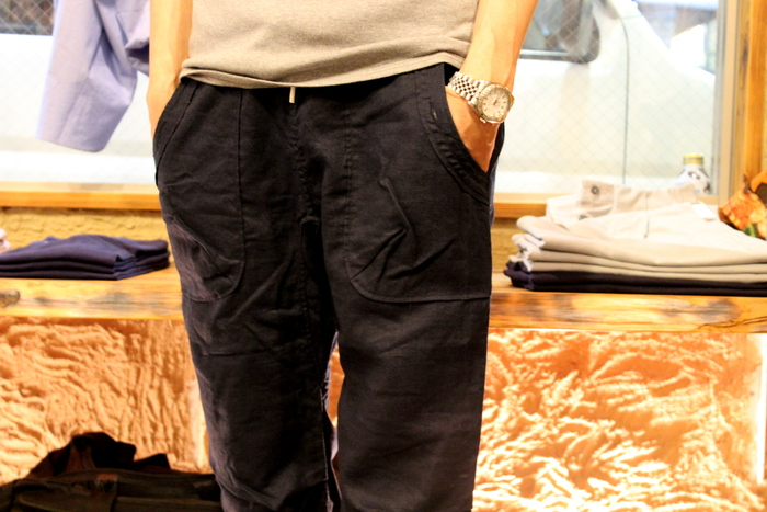 ◆Navy Linen Easy Bottoms_e0142928_2238356.jpg