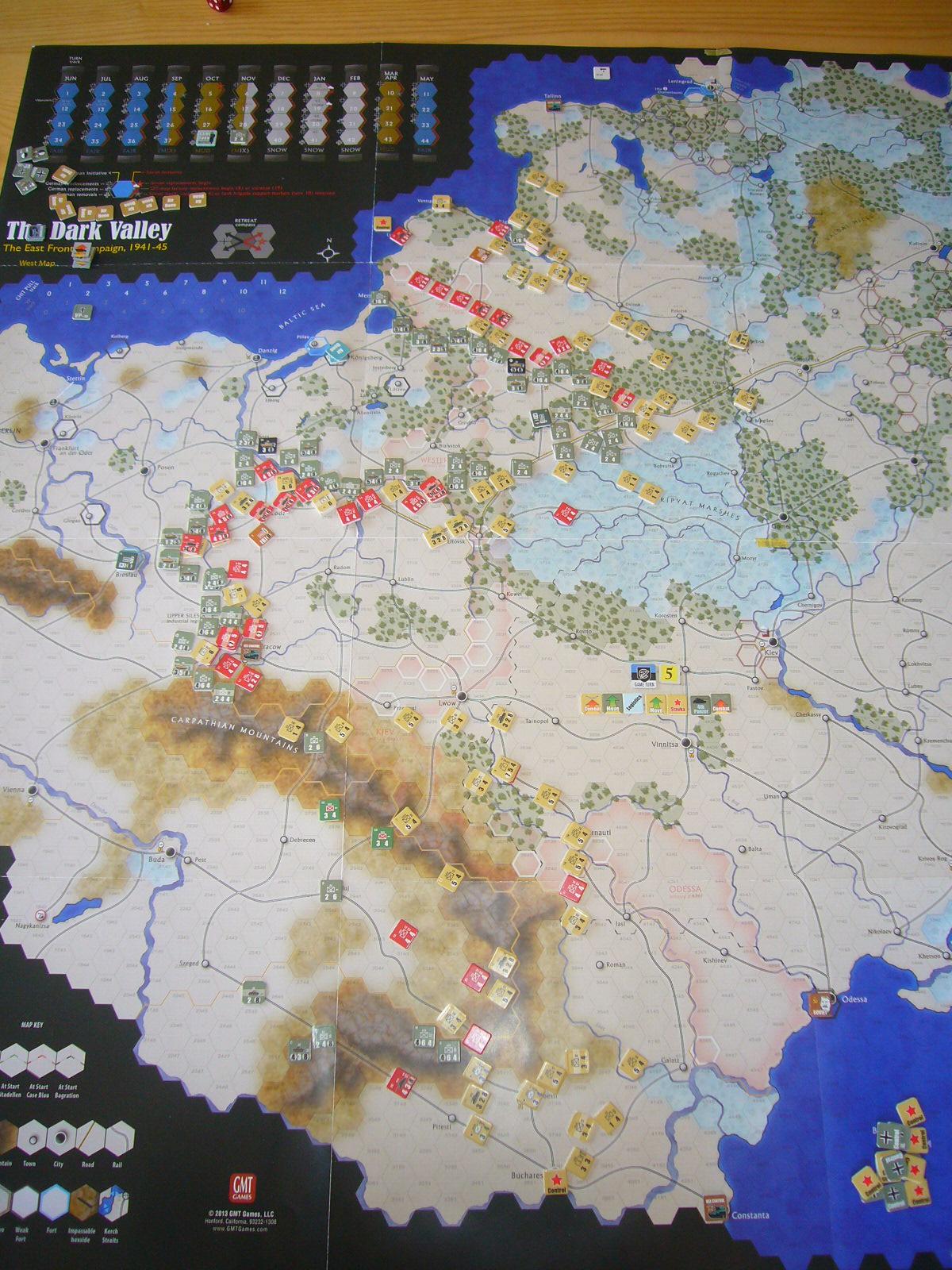 戦わんかな、時いたる The Dark Valley(GMT)1944開始キャンペーンその⑤_b0173672_22415331.jpg