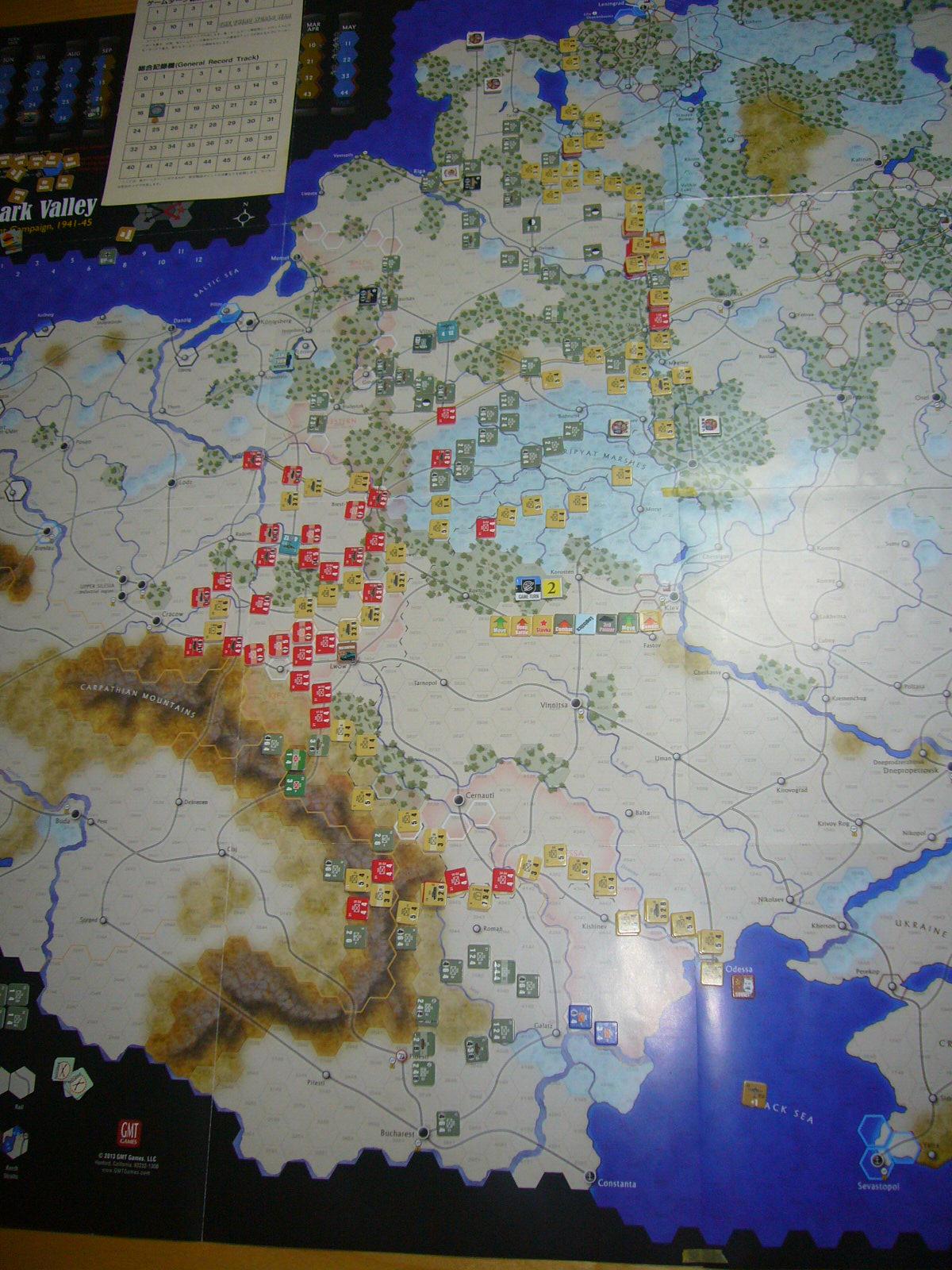 かの軍隊は敗れたり The Dark Valley(GMT)1944開始キャンペーンその②_b0173672_2274395.jpg