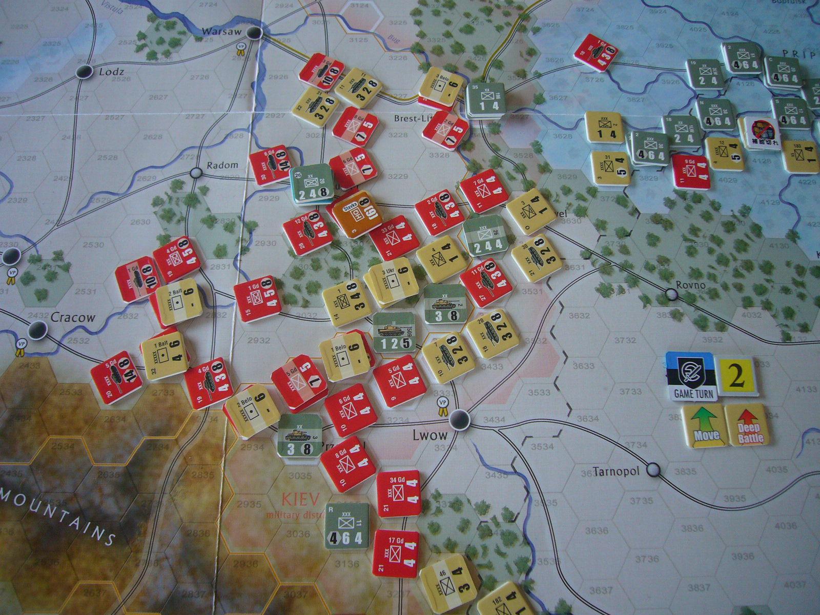 かの軍隊は敗れたり The Dark Valley(GMT)1944開始キャンペーンその②_b0173672_227678.jpg