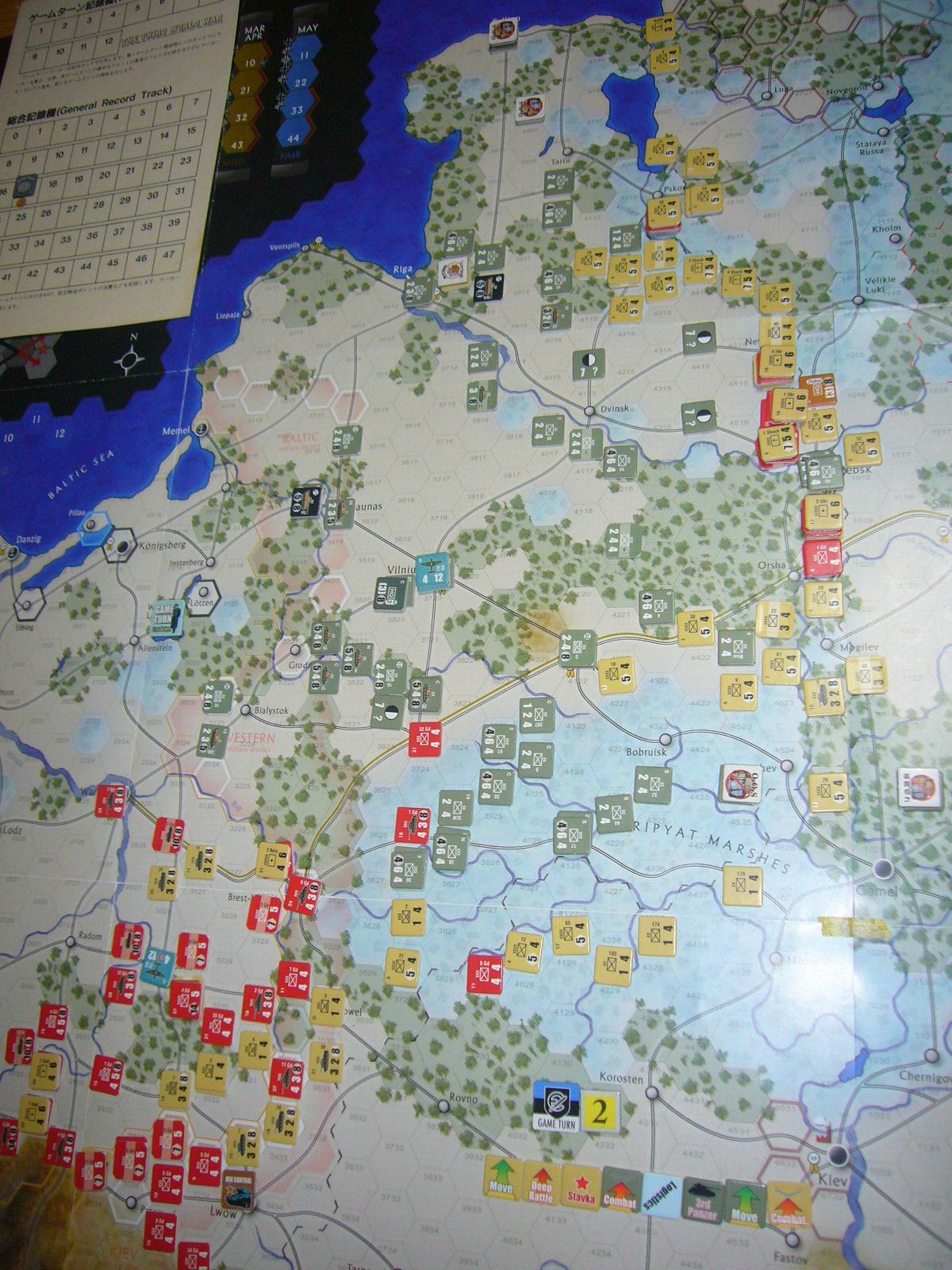 かの軍隊は敗れたり The Dark Valley(GMT)1944開始キャンペーンその②_b0173672_2282246.jpg