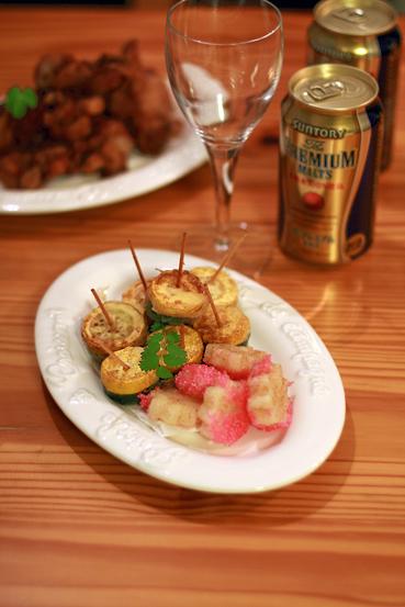 プレミアムモルツと塩レモンの鶏から揚げ_e0137277_4493214.jpg