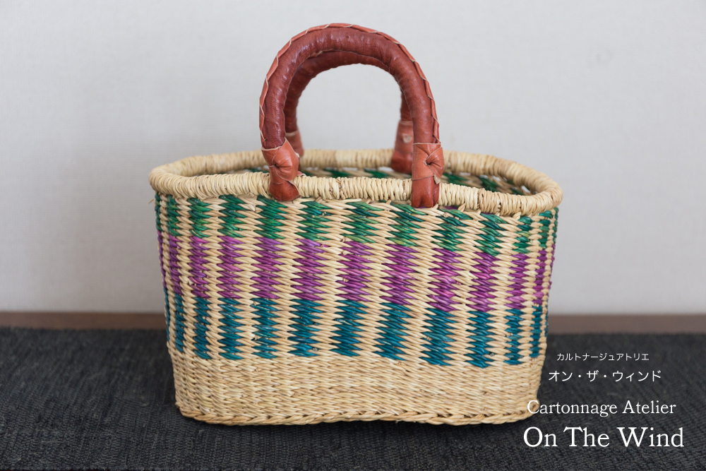 夏仕様のガーナの籠バック♪_d0154507_15581516.jpg