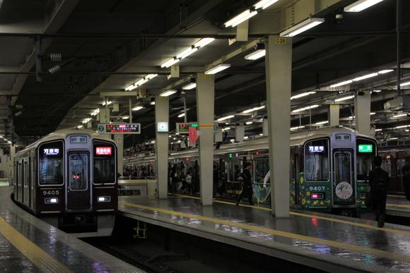 9300系 準急 阪急 梅田駅にて・・_d0202264_2219268.jpg