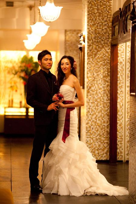 新郎新婦様からのメール 赤バラと白磁の装花 メゾン・ポールボキューズ様へ_a0042928_2161935.jpg