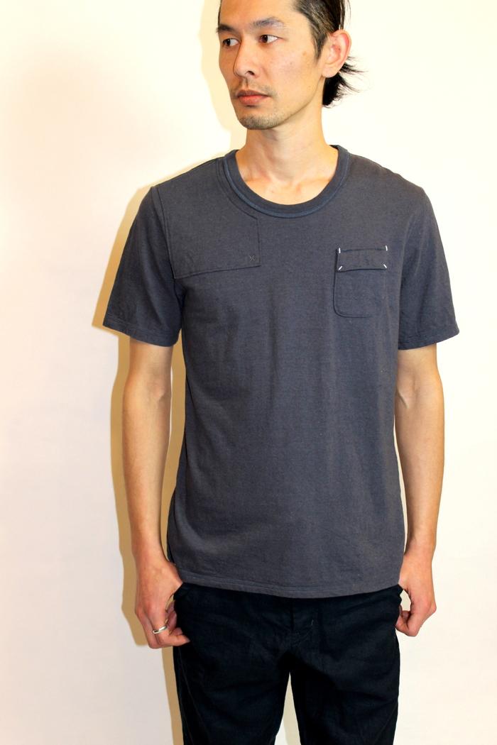 ◆Belgian Linen Shoulder Pad Tee_e0142928_17355984.jpg