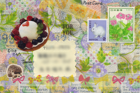 カード文通 キジ猫さん、むにゅさん、ひなこさんへ_a0275527_23494305.jpg