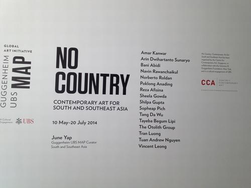 グッゲンハイムUBS MAP グローバルアートイニシアチブ【NO COUNTRY】巡回展★_e0303431_23143994.jpg